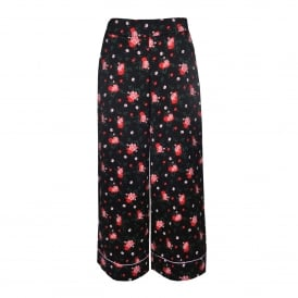 Bangui Wide Lag Pant with Flowers