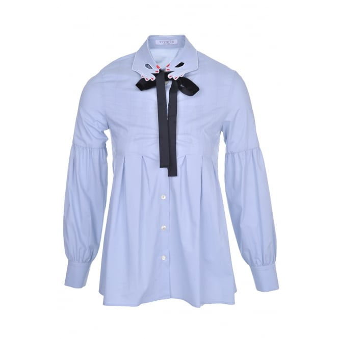 Vivetta Blue Hands Detail Shirt