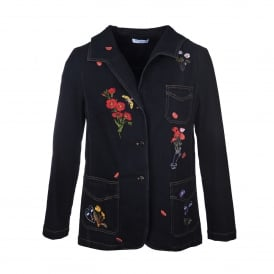 Vivetta Corvo Embroidered Denim Jacket