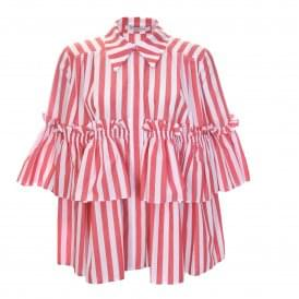 Denebola Striped Shirt with Ruffles