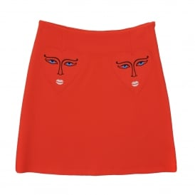 Vivetta Istrice Red Skirt