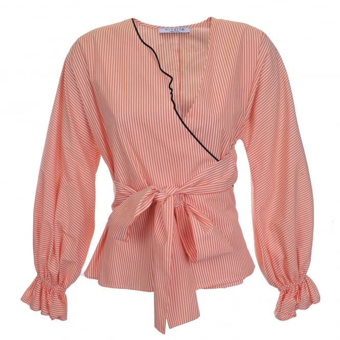 Vivetta Kari Orange Stripe Blouse