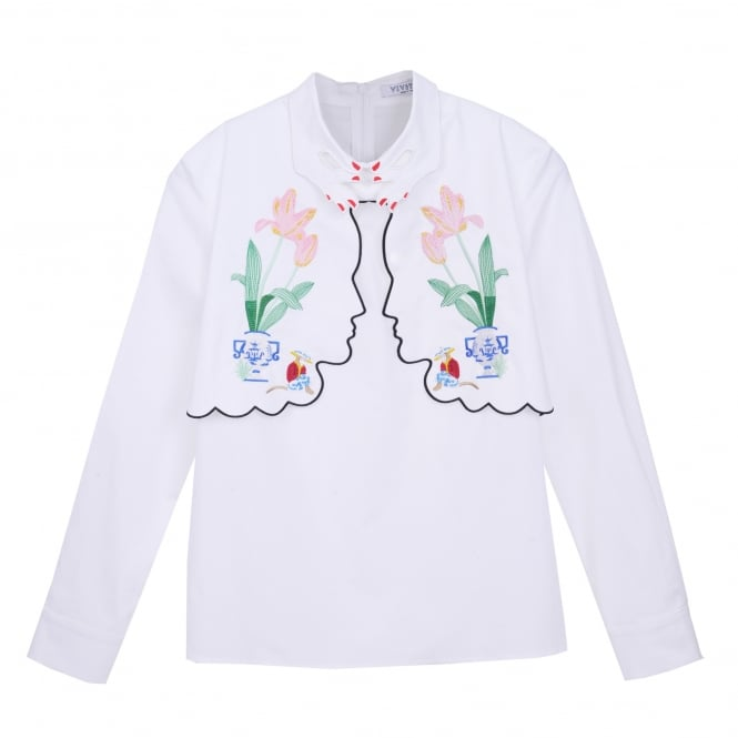 Vivetta Kiev Embroidered Faces Shirt