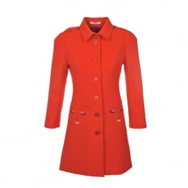 Vivetta Lama Red Coat