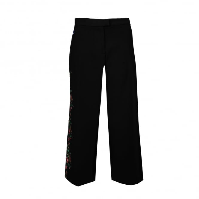 Vivetta Olympia Black Pant with Embroidery Detail