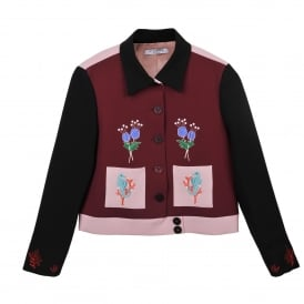 Woodonga Embroidered Cropped Jacket